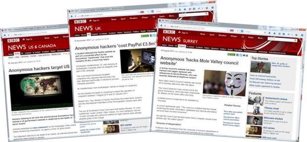 BBC News stories about DDoS attacks