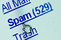 Spam folder of unwanted mail